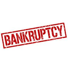 Bankruptcy stamp vector