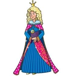 Beauty fairy queen or princess vector