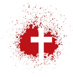 bloody cross vector image