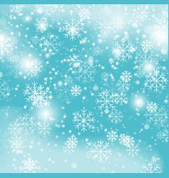Blue snowflake backgroundchristmas snowfall vector