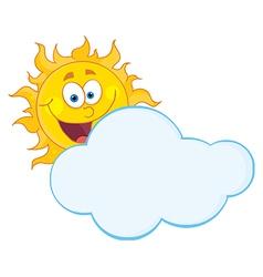 Cartoon sun vector image vector image