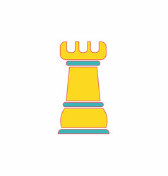 Chess rook vector