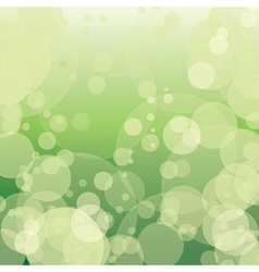 colorful green bokeh with circles vector image
