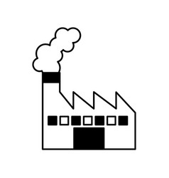 Factory plant isolated icon vector