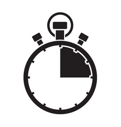 Fifth teen minute stop watch countdown vector
