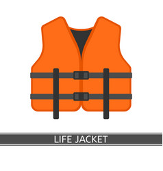 Life jacket isolated vector
