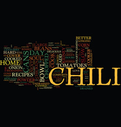 Lift your soul with a good bowl of chili text vector
