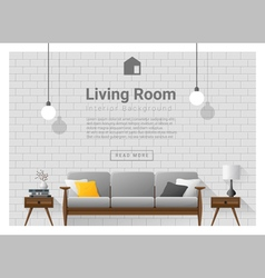 Living room Interior background 1 vector image