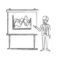 Monochrome blurred silhouette of businessman vector