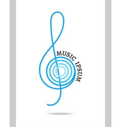 Musical logo treble clef vector