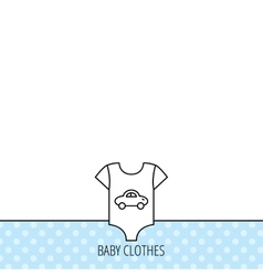 Newborn clothes icon baby shirt wear sign vector