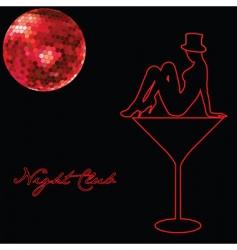 Night club advert vector