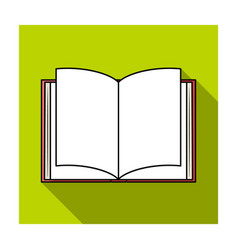 Opened book icon in flat style isolated on white vector