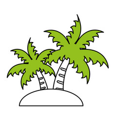 Palm tree icon image vector