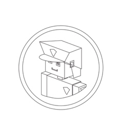 Police isometric avatar vector