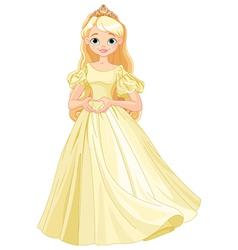 Princess makes heart shape vector image