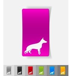 Realistic design element german shepherd vector