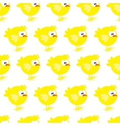 Seamless pattern with chicken on white background vector image vector image
