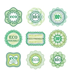 Set of labels for green technology and production vector image