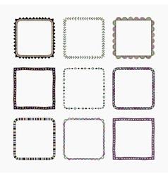 set of nine frames vector image vector image