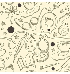 Sketch seamless vector image vector image