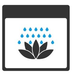 Spa Shower Calendar Page Toolbar Icon vector image vector image