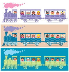 Steam train driver vector