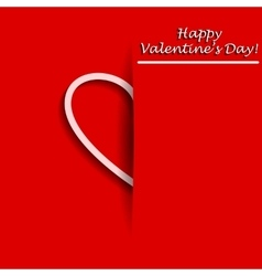 Valentines day greeting card with half of heart in vector
