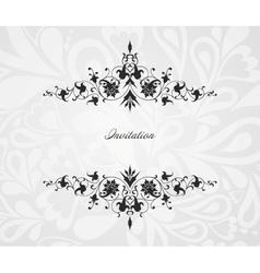 Vintage floral frame background vector image vector image