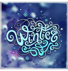 Winter hand lettering vector