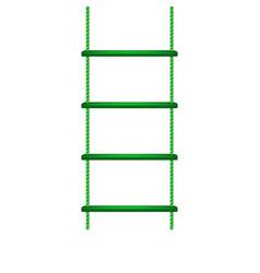 Wooden rope ladder in green design vector