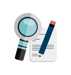 Magnifying glass with business icon vector