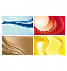 Wave backgrounds vector