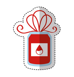 Blood donation bag icon vector