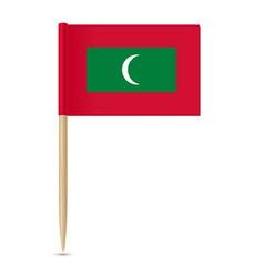 Flag of maldives flag toothpick 10eps vector