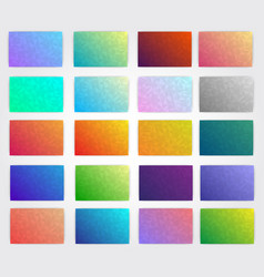 kit of polygonal gradients for designers vector image