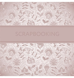 Seamless texture with flowers for scarpbooking vector