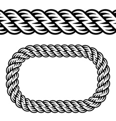 Seamless black rope symbol vector