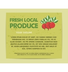 Summer farm fresh poster template or brochure vector