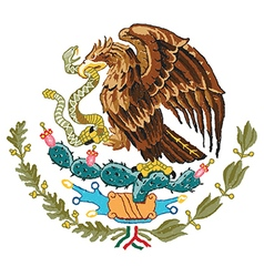 Hand drawn of mexico coat of arms vector
