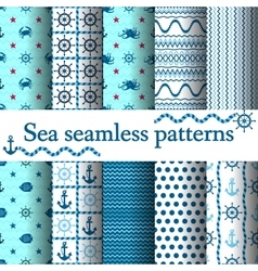 Set of sea seamless vector