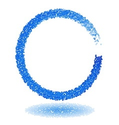 Blue dotted circle frame vector image