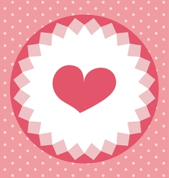 cute heart card vector image