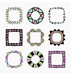 set of nine frames vector image