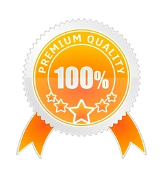 Badge of Premium Quality vector image