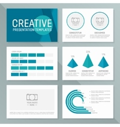 business presentation template slides vector image vector image