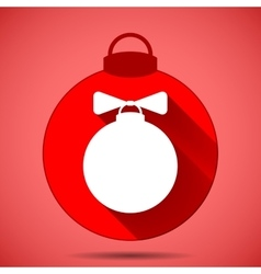 Christmas icon with the silhouette of the balloon vector
