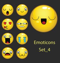 Emoticons set 4 vector