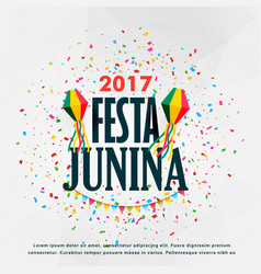 Festa junina celebration poster design with vector