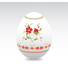 Floral easter eggs vector